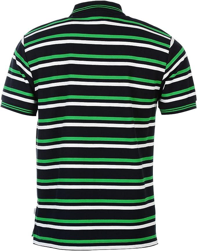Lonsdale para Hombre Camisa De Rayas Polo De Manga Corta Casual ...