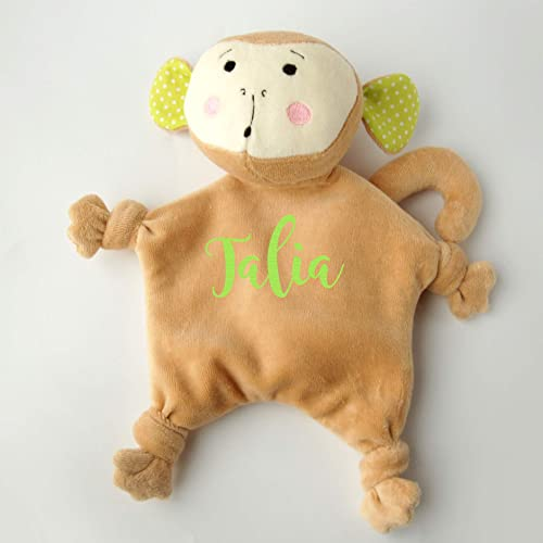 56a58223eab Image Unavailable. Image not available for. Color  Baby Monkey Gift Baby  Shower Personalized Lovey Security Blanket