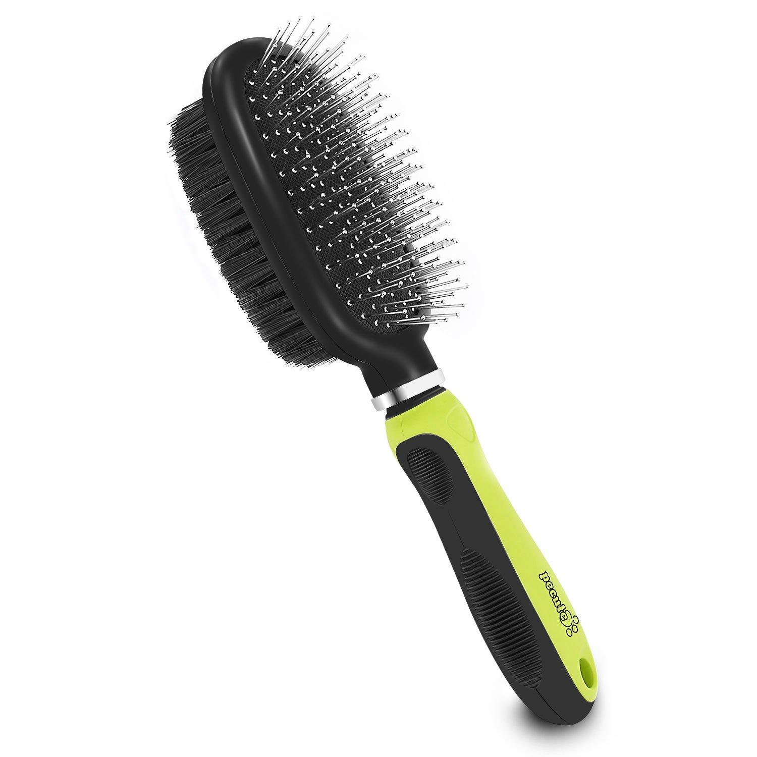 Pecute Dematting Comb Grooming Tool Kit for Dog & Cat Double Sided Blade Rake Comb with Grooming Brush (Double Sided Grooming Brush)