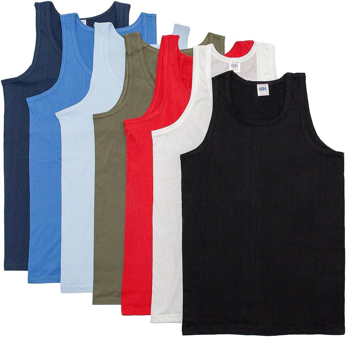100/% tout neuf en coton pour Hommes Gilet Sans Manche Singlet Athletic Tank Top Gym-Blanc