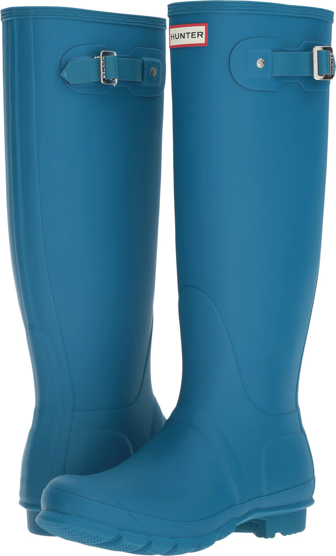 Hunter Women's Original Tall Ocean Blu Rain Boots - 7 B(M) US by Hunter (Image #1)