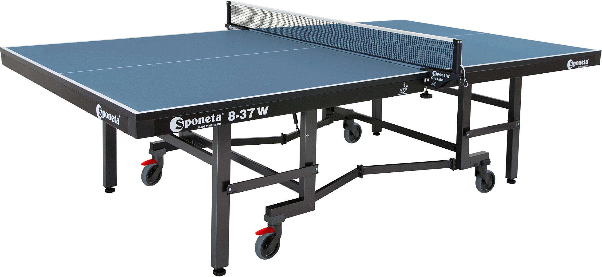 Sponeta Super Compact, 8-37 W Premium Indoor Table Tennis Table, ITTF Tournament Approved by Sponeta