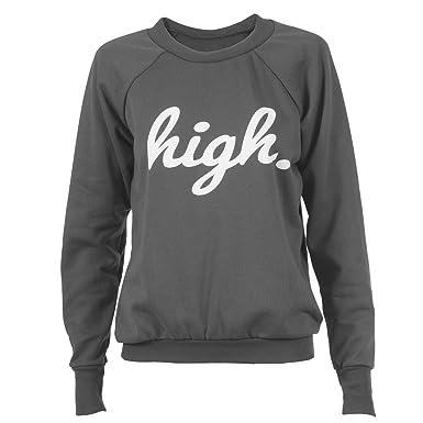 new concept 2d4e0 e9eb4 High Sweater Pulli Pullover Sweatshirt Langarm Aufdruck Damen Supreme Obey  Boy Disobey Adler Eleven Bro Paris Hangover Hoodie Bonjour Bitches
