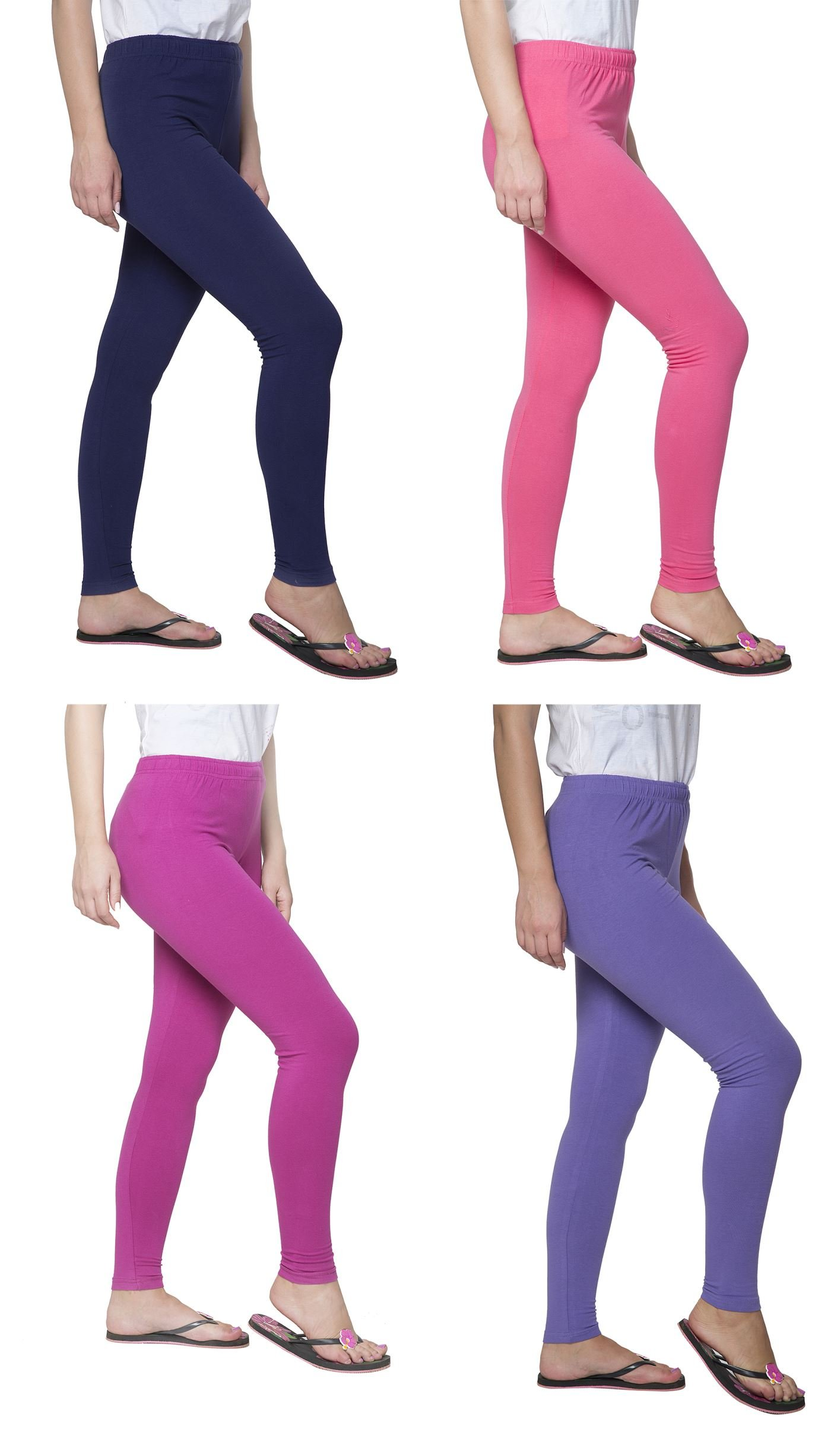Clifton Women's Cotton Spandex Fine Jersey Leggings Pack Of 4-Assorted-2-XL by Clifton (Image #2)