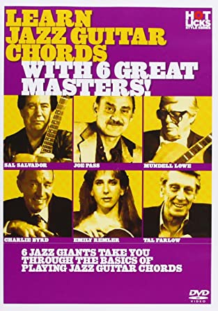 Amazon Hot Licks Learn Jazz Guitar Chords With 6 Great Masters