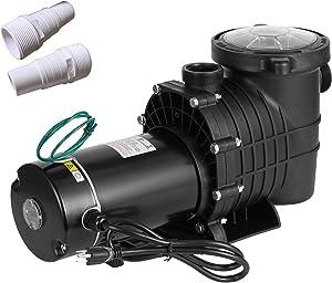 SmarketBuy 1.5HP Swimming Pool Pumps, Dual Voltage 115/230V High Flow Pool Pump, Above Ground Pool Pumps Large Strainer Basket, 2Pcs 1-1/2NPT Connectors