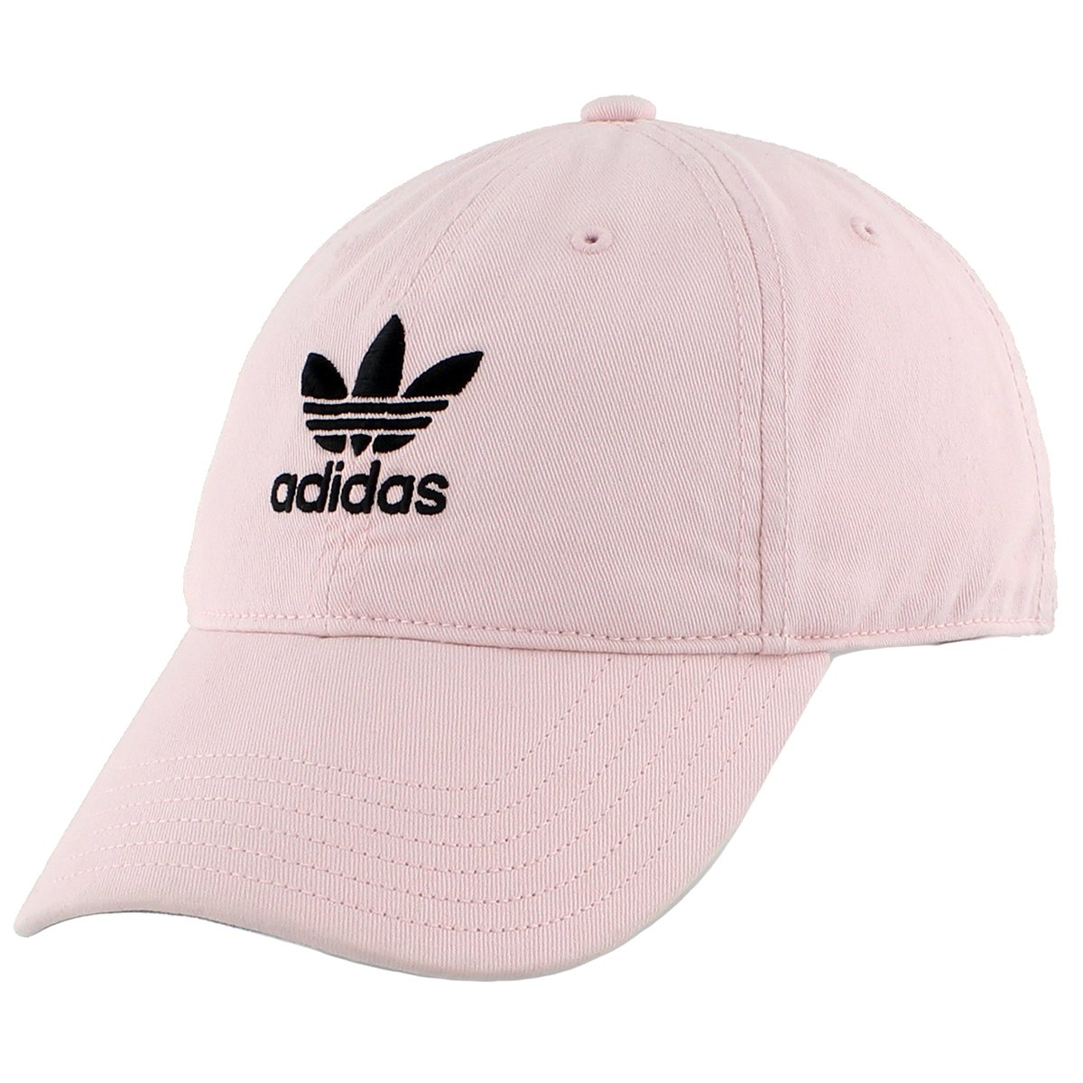 adidas Men's Originals Relaxed Strapback Cap, Clear Pink/Black, One Size