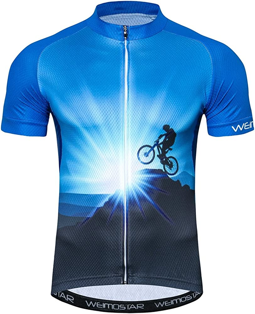 Men/'s Short Sleeve Cycling Jersey Bicycle Tops Team Cycling Clothing Breathable