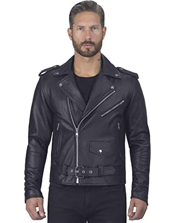 33a35c5a63fd Viking Cycle Angel Fire Premium Grade Cowhide Leather Motorcycle Jacket for  Men