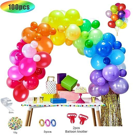 MMTX 100pcs globos de cumpleaños de Diversos Colores, globos fiesta, decoracion para Cumpleaños, Fiestas, Bodas, Reuniones y Otras ...