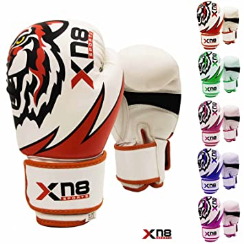 Xn8 Sports Rex Leather Boxing Gloves MMA Muay Thai Punch Bag Sparring Fight Pad Kickboxing Martial Arts Training Gloves