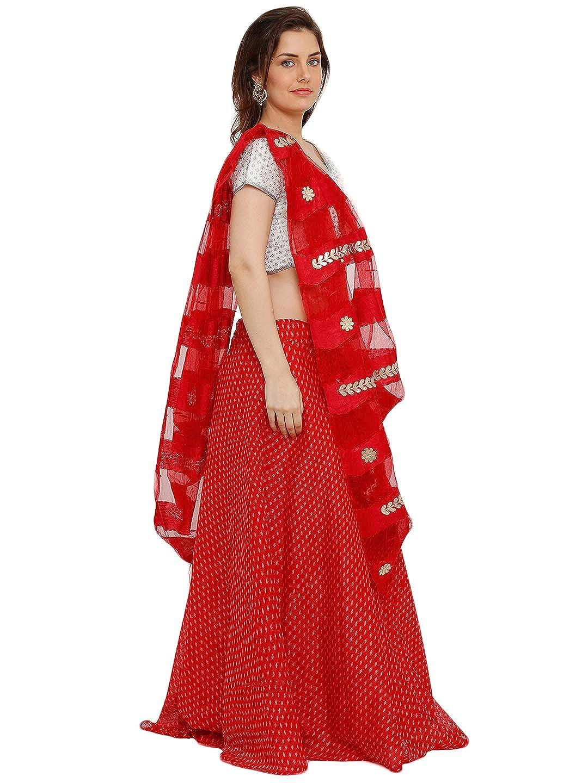 751ee2944d S Salwar Studio Women's White & Red Brocade Silk readymade Free size Lehenga  Choli with Dupatta(SOM-0036924_Red_Free Size): Amazon.in: Clothing & ...