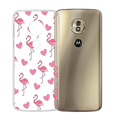 9385d82eb0b DYSu Funda para Motorola Moto G6 Play flamencos Transparente Película de  TPU Silicona Parachoques Suave Tapa
