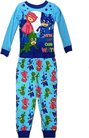 PJ Masks Toddler Boy/'s /'On The Way/' 4-Piece Cotton Pajama Pants Set