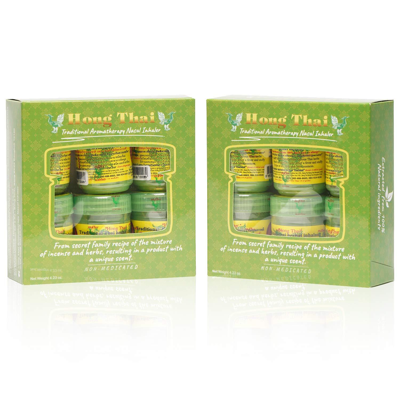 HONG THAI TRADITIONAL THAI HERBAL INHALANT 12 Bottles ( 2 Packs )