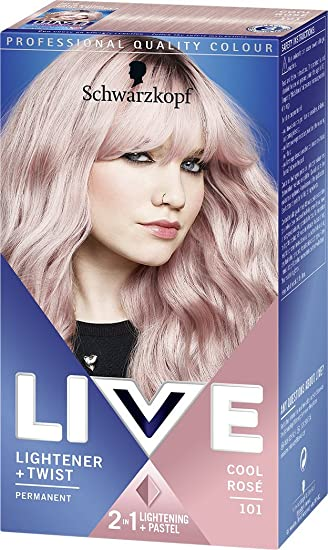 Schwarzkopf Lightener + Twist Permanent, Number 101 Cool Rose (pack ...