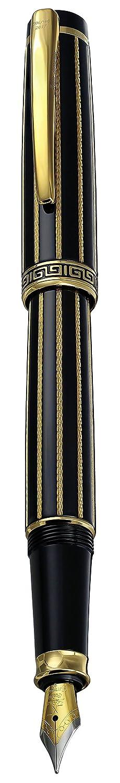 Xezo fina pluma estilogr/áfica negro esmaltado diamante y 18/K chapado en oro edici/ón limitada de 500/ Incognito negro oro F
