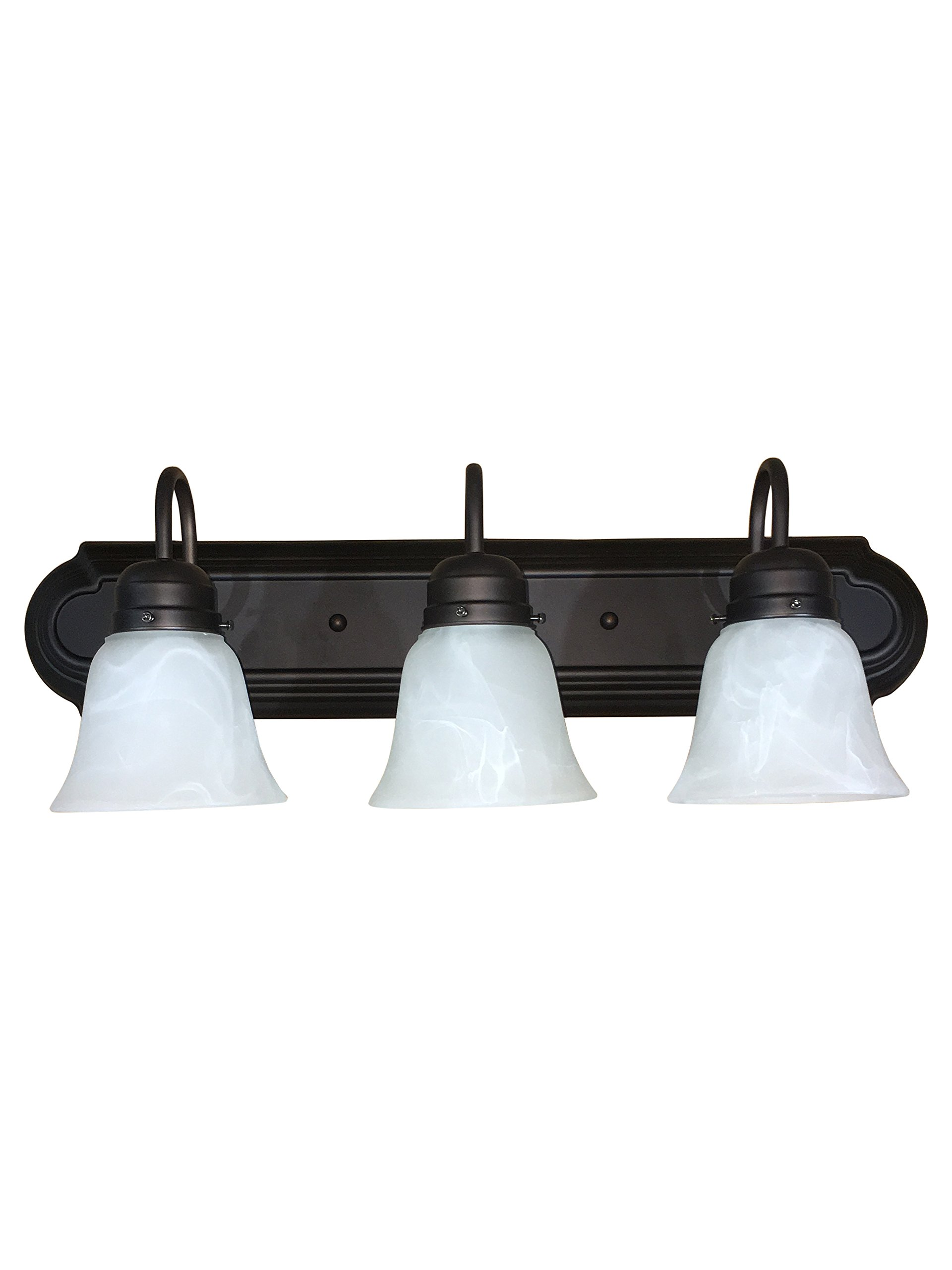 Y Decor L4993-3ORB Monica 1-Light Bathroom Vanity Light In Oil Rubbed Bronze