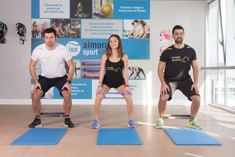Manuel PDF Bandes /élastiques Yoga en Latex Naturel Sac de Transport Ryher Set de Bandes /élastiques de r/ésistance Fitness Hommes Femmes
