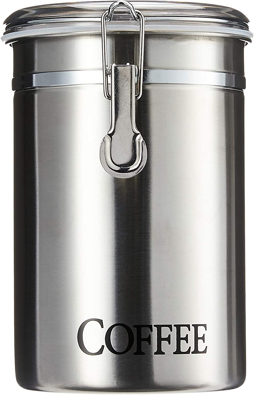 Amazon Com Oggi 60 Ounce Brushed Stainless Steel Coffee Airtight Canister With Acrylic Lid Kitchen Dining