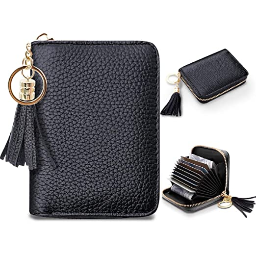 5c3bd9c1ee35 Women's Small Credit Card Wallet RFID Glitter Cute Credit Card Holder  Wallets for Women