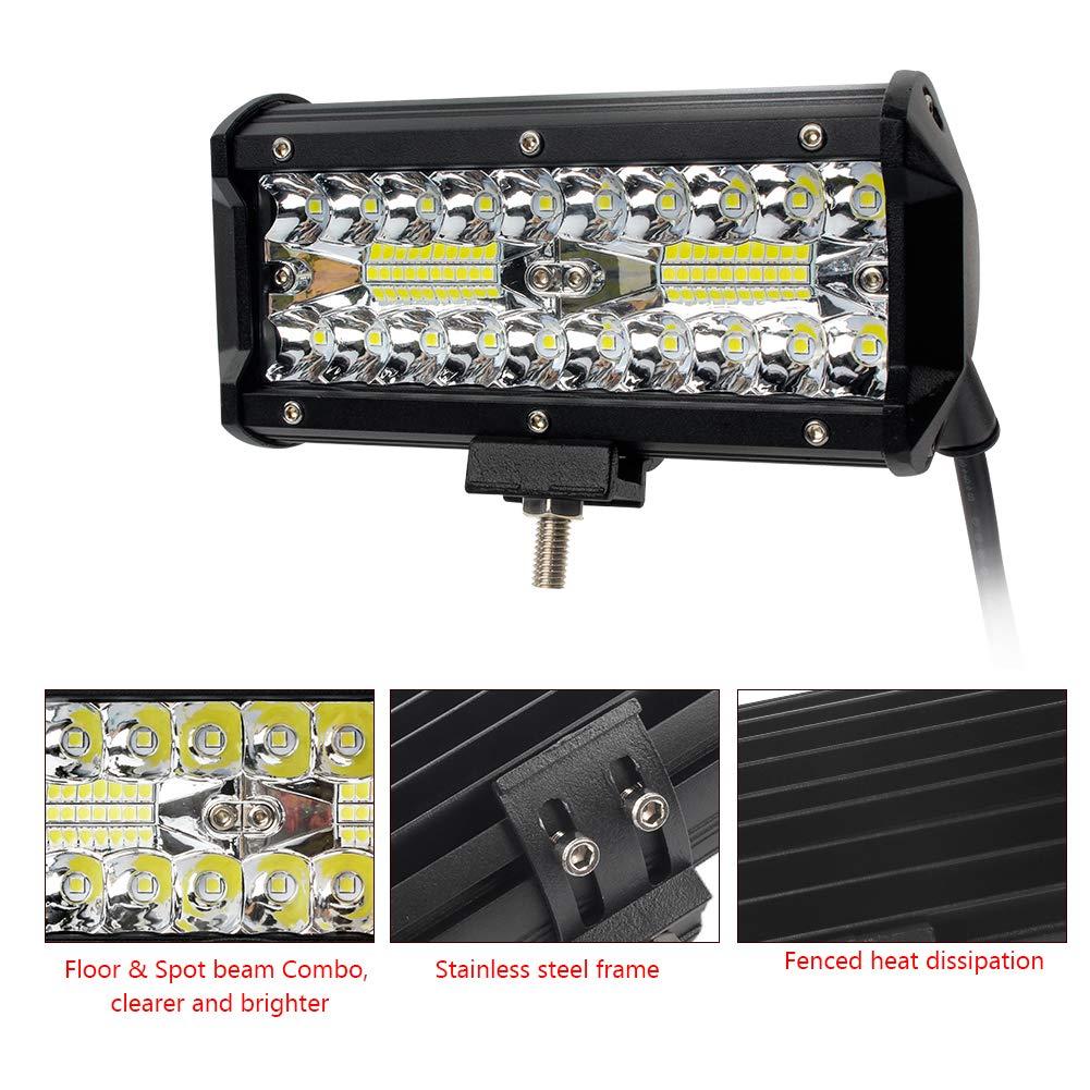 Waterfroof Led Light Bars GES 2Pcs 4Inch 120W 12000lm LTD Aluminum Alloy Die-casting Shell Led Flood Spotlight Off Road Lights Super Bright Fog//LED Pod Lights//Work Lights for SUV Jeep Trucks ATV Cars GES CO