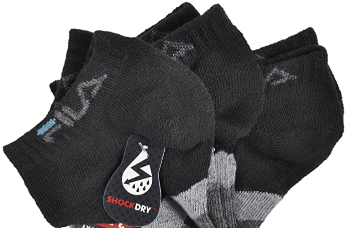 Fila Ankle Socks Large Shock Dry All-Sport Mens 3-Pack in Black at Amazon Mens Clothing store: