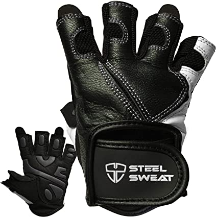 Amazon Com Steel Sweat Workout Gloves Best For Weightlifting Gym