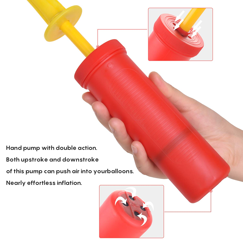 Yoga Balls Exercise Balls Pool Floats FORMIZON 3 Pack Balloon Pump//Air Pump//Hand Manual Inflator Balloons Blue+Red+Purple