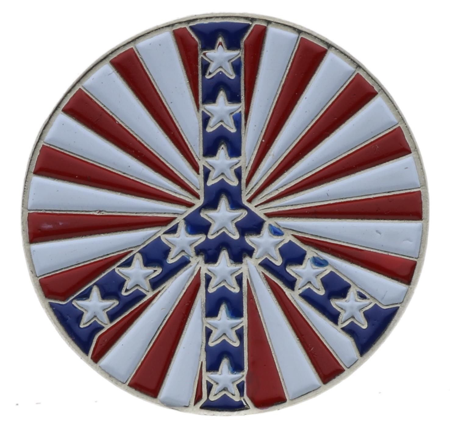 Stars And Bars Peace Sign Hat Or Lapel Pin AK9021D201