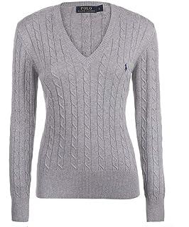 Polo Ralph Lauren Kimberly LS SWT, Polo Femme  Amazon.fr  Vêtements ... e7eb8655512d
