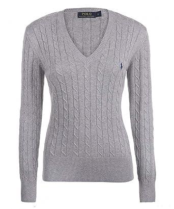 a2253d62156b Ralph Lauren - Pull - Femme Gris Gris  Amazon.fr  Vêtements et ...