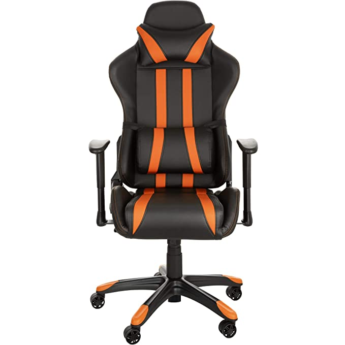 TecTake Silla de oficina ergonomica racing gaming con soporte lumbar - disponible en diferentes colores - (negro naranja | no. 402233): Amazon.es: Hogar