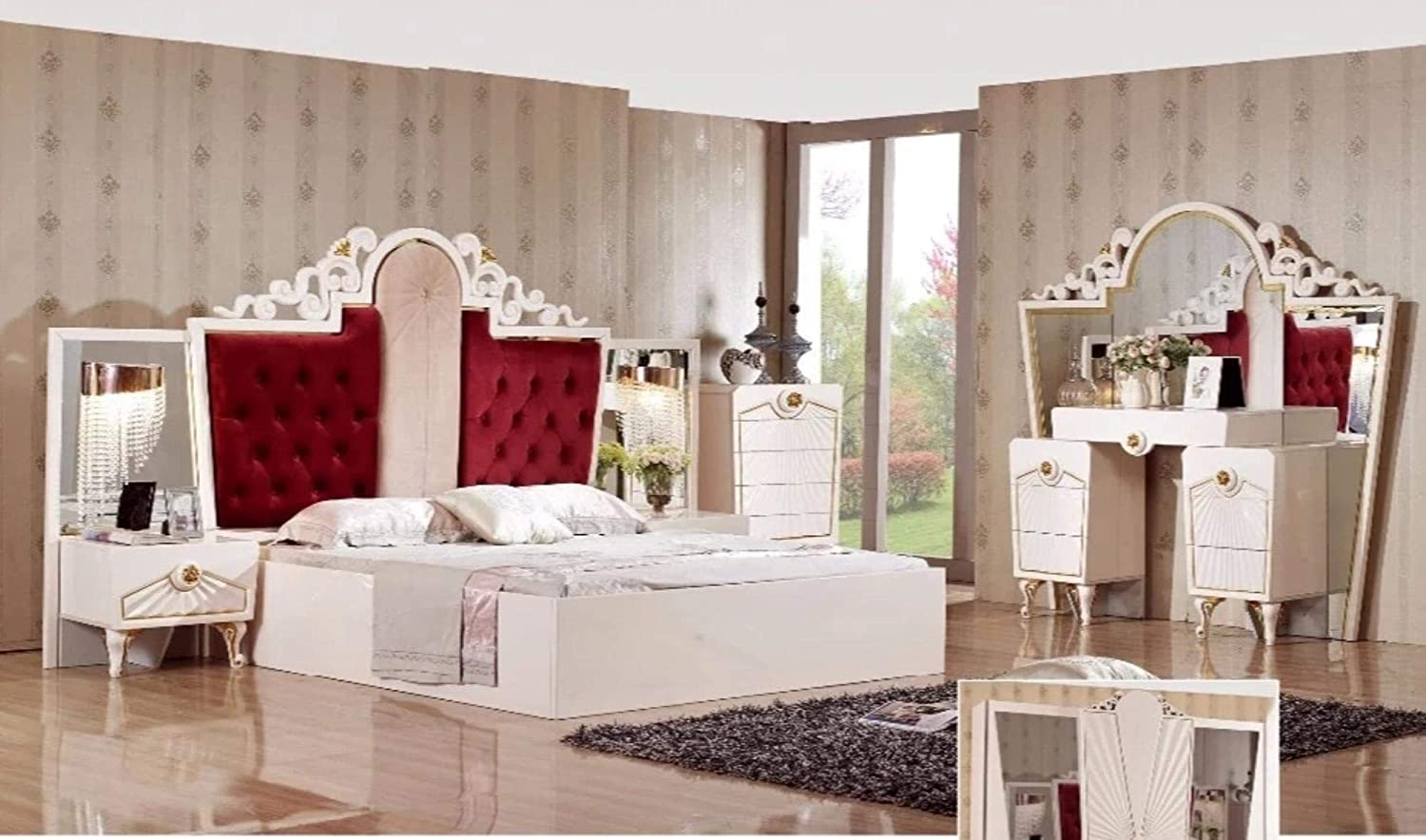 Amazon.com: My Aashis Royal Full Set Bedroom Furniture for Home