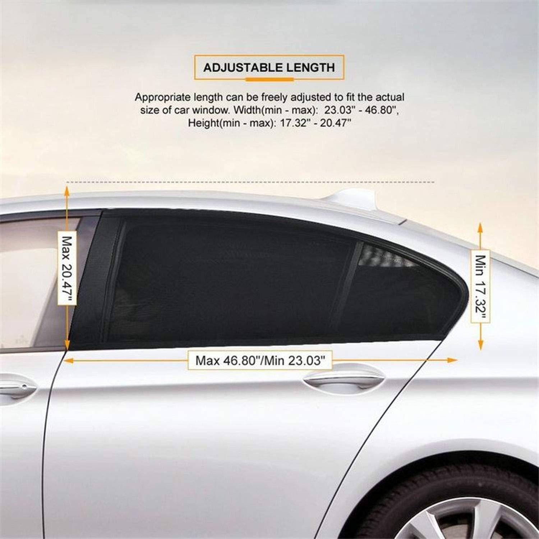 2PCS//Lot Auto Car Vehicle Window Mesh Shield Sunshade Visor Net Mosquito Repellent UV Protection Anti Mosquito Window Covers