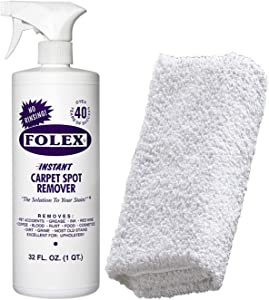 Cemko Cleaning Cloth + Folex Carpet Spray | Instant Rug and Carpet Spot Stain Remover Kit, 32oz