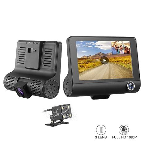 Cámara De Coche Dash Cam Resolución 1080P SENDOW Con Pantalla De 4 Pulgadas y Sensor De