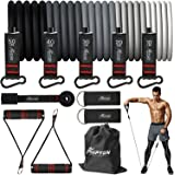 HPYGN Resistance Bands Set, Exercise Bands with Handles, Ankle Straps, Door Anchor, Carry Bag, Great for Resistance Training,