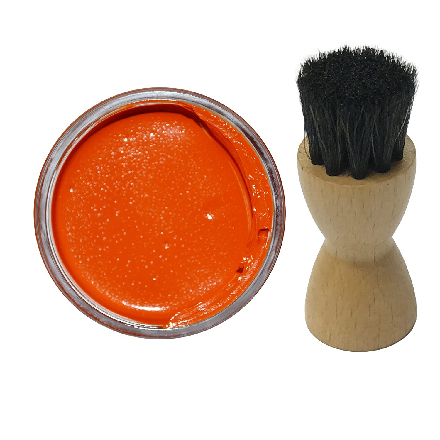 Famaco ORANGE Shoe Cream Polish 50ml & Famaco Application Brush