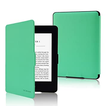 Fskying Kindle Paperwhite Funda, Premium Leather Ereader Cover ...
