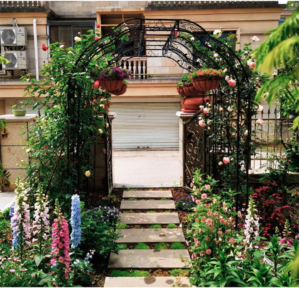 XLOO Tres Arcos de jardín de Estilo francés clásico con Arcos de Pasarela de jardinería al Aire Libre, decoración de Ceremonia de Boda, Forma de Hierro Forjado Rosa, arcada de jardín.: Amazon.es: