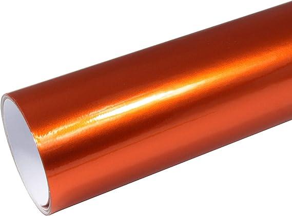 Rapid Teck 8 55 M Autofolie Serie Z560 Candy Fire Orange Hochglanz 1m X 1 52m Selbstklebende Premium Car Wrapping Glanz Folie Mit Luftkanal Baumarkt
