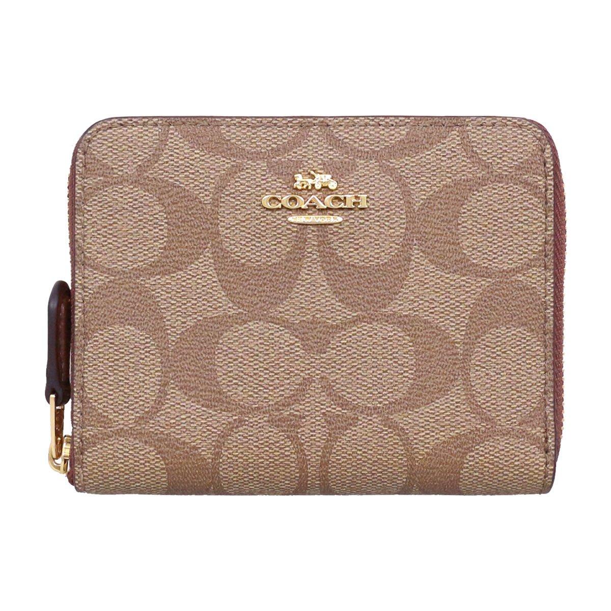 [コーチ] COACH 財布 (二つ折り財布) F30308 カーキ×サドル2 IME74 シグネチャー 二つ折り財布 レディース [アウトレット品] [ブランド] [並行輸入品] B07DJ7DGMD