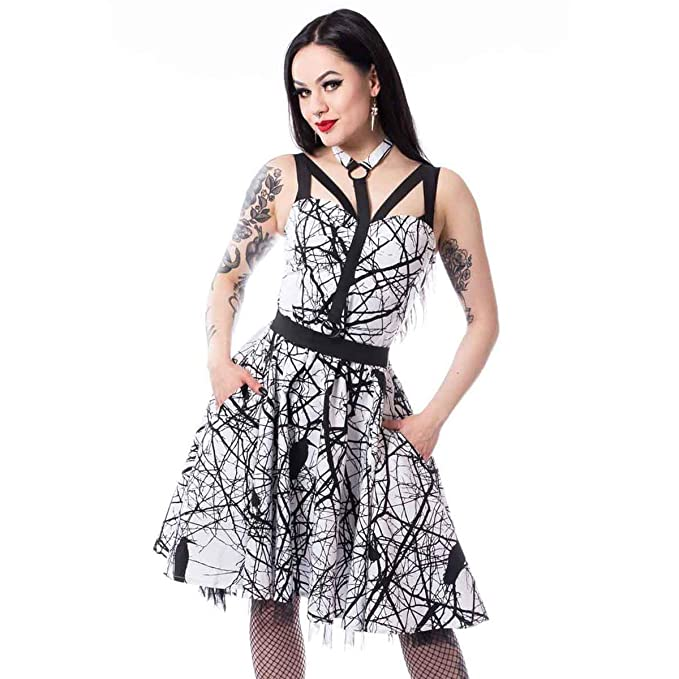 comprar baratas promoción especial fina artesanía Vixxsin Vestido de Rodilla gótico Alternativo con Estampado ...