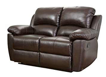 Astounding Abbyson Westwood Top Grain Leather Loveseat Brown Unemploymentrelief Wooden Chair Designs For Living Room Unemploymentrelieforg