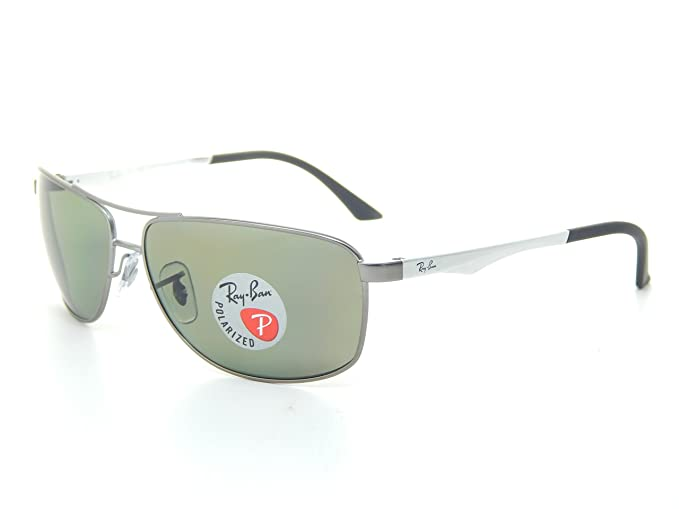 8c71af09bf82 Image Unavailable. Image not available for. Colour  New Ray Ban RB3506  029 9A Gunmetal Polarized Green 64mm Sunglasses