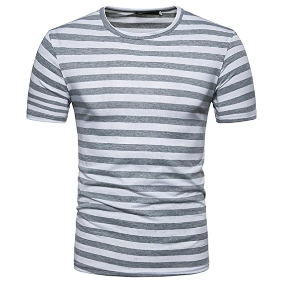 Camisetas Hombre Manga Corta, Venmo Hombres Verano Rayas Casual Cuello Redondo Camisetas Deporte Ropa Deportiva T-Shirt Crew Neck tee: Amazon.es: Ropa y ...