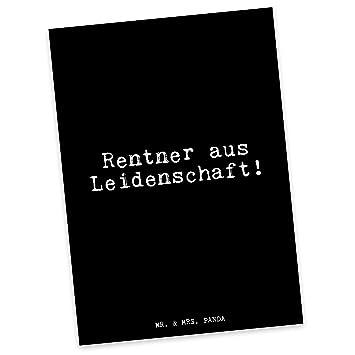 Mr Mrs Panda Postkarte Mit Spruch Rentner Aus
