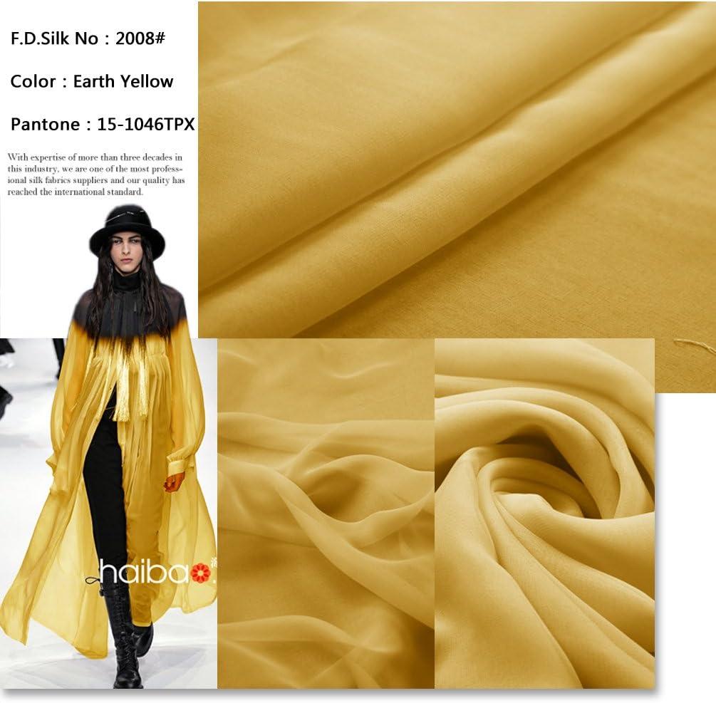 Camel Ch-015 F.d.silk Camel 100/% Pure Silk Chiffon Fabric By the Yard 48 Colors