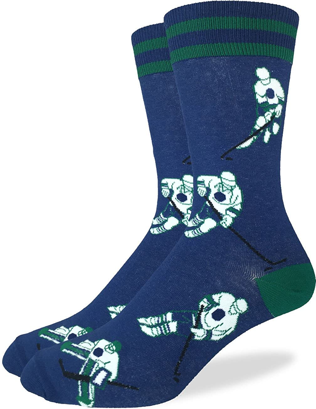 Good Luck Sock Men's Vancouver Hockey Crew Socks - Blue, Adult Shoe size 7-12 1232